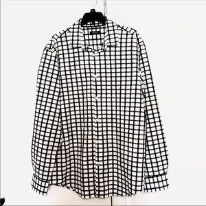 NWT Alfani Black and White Dress Shirt Size Large